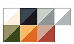 Indent: Cream, Charcoal, Smoke, Grey, Olive, Orange, Terracotta